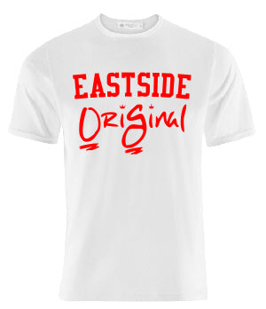 OriGinal WHITE /RED SHIRT  - NORTHSIDE - EASTSIDE- WESTSIDE - SOUTHSIDE