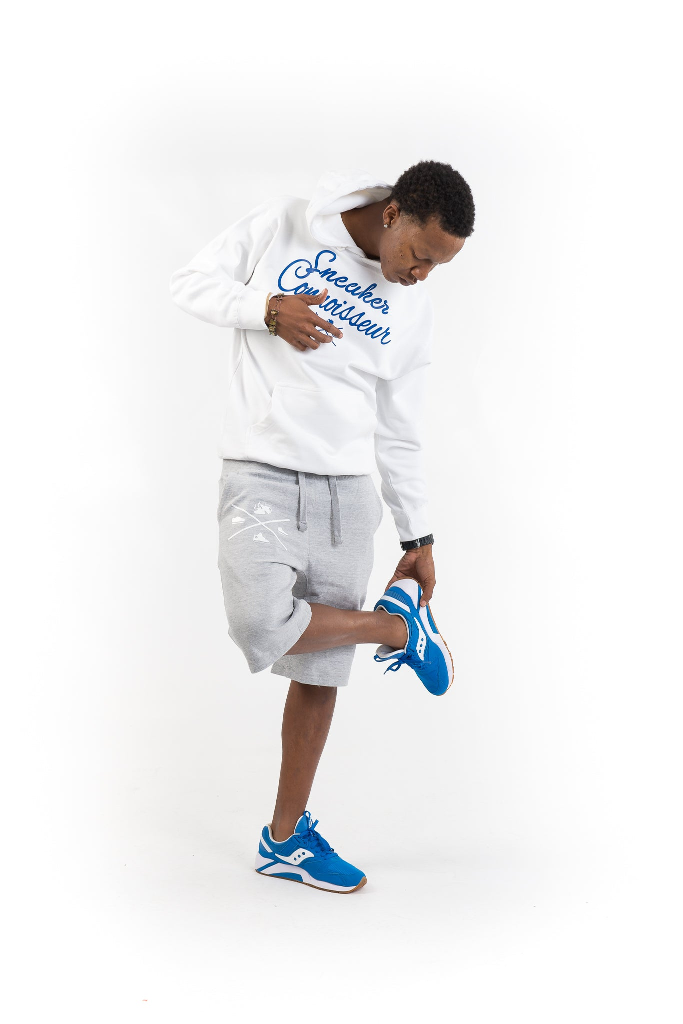 SNEAKER CONNOISSEUR WHITE/ ROYAL HOODIE