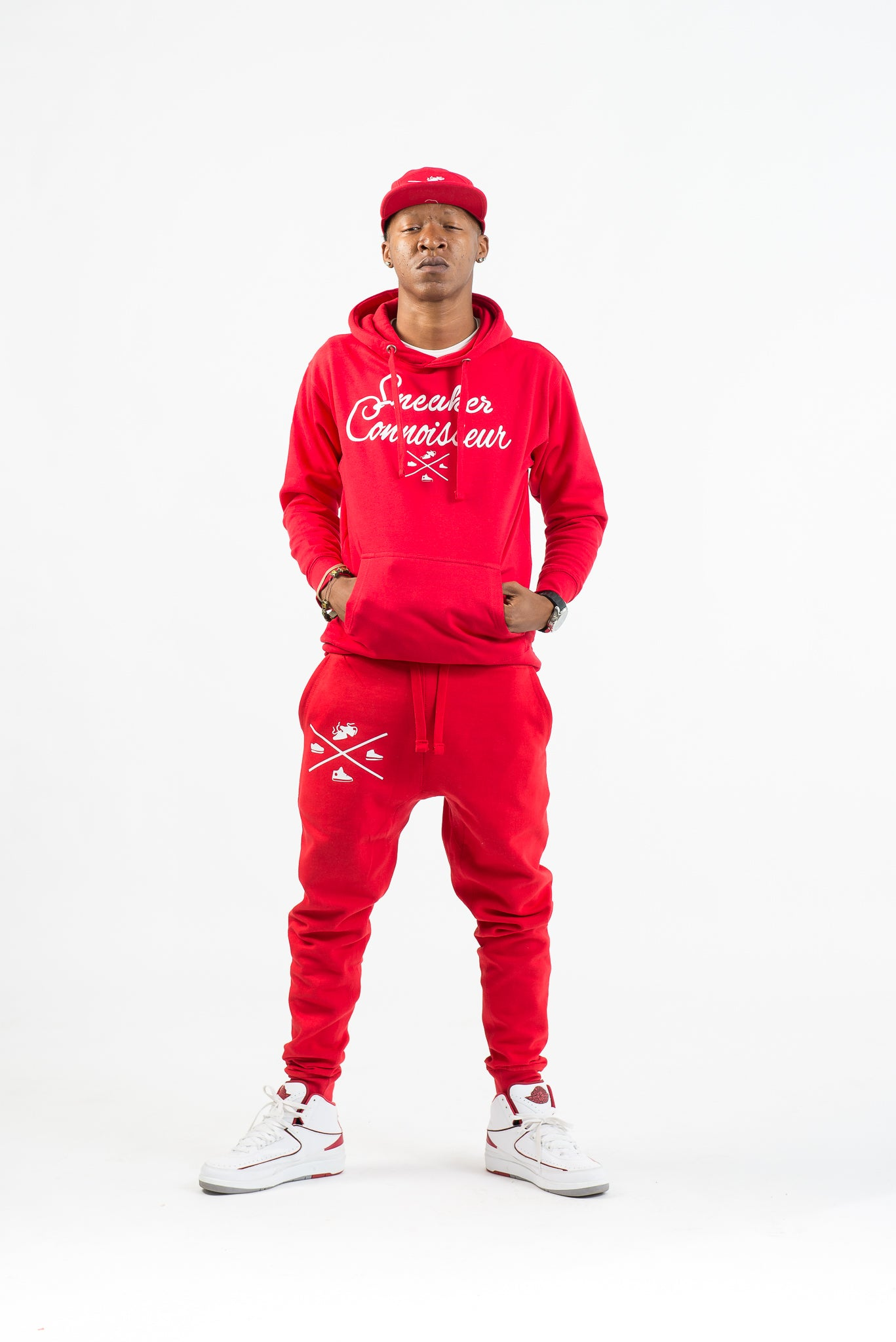 RED/WHITE SNEAKER CONNOISSEUR v2 JOGGER SUIT