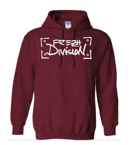 Frezh Division Maroon Hoodie