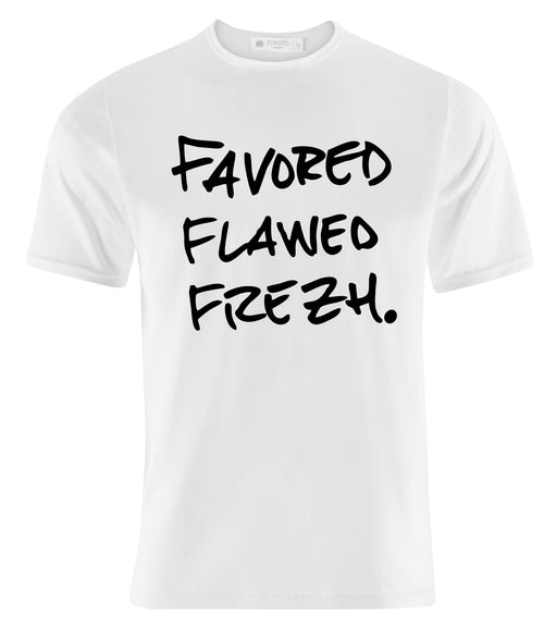 Favor Flawed Frezh Tee White/Blk