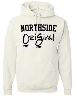 OriGinal WHITE/BLACK HOODIE  - NORTHSIDE - EASTSIDE- WESTSIDE - SOUTHSIDE