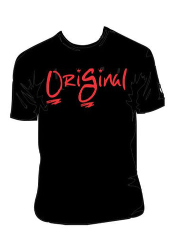 Atlanta OriGinal Short Sleeve Blk/Red print