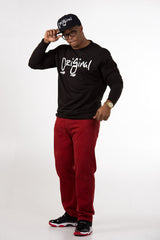 OriGinal Crewneck Blk/Red print