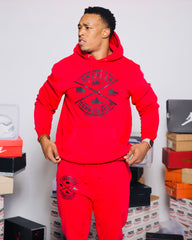 RED/BLACK SNEAKER CONNOISSEUR v2 JOGGER SUIT
