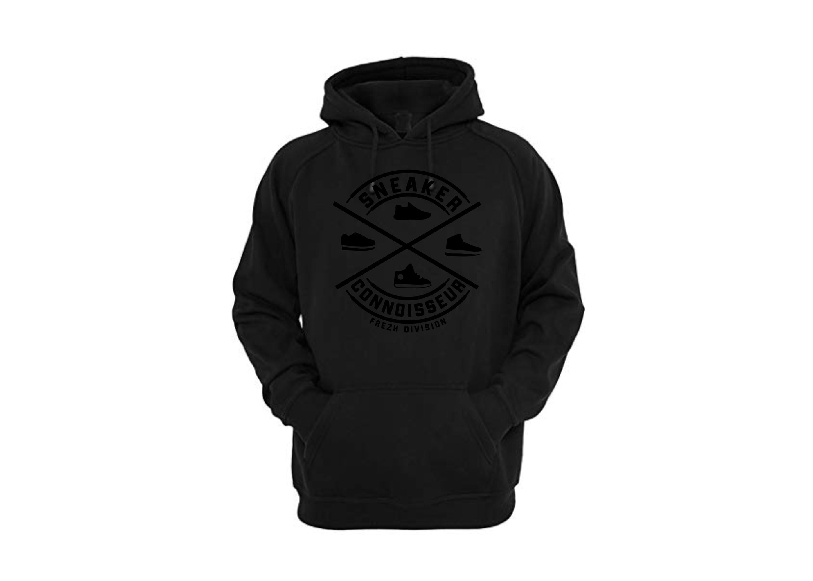 *exclusive* SNEAKER CONNOISSEUR V2 BLACK  on BLACK HOODIE