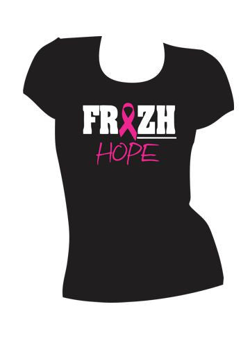 Ladies Frezh Hope Breast Cancer awareness Tee