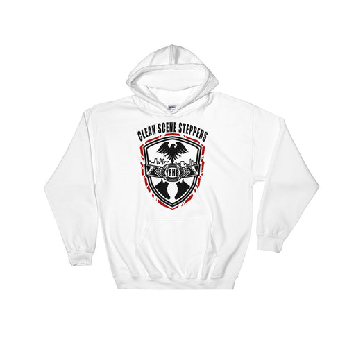 White TWARD x Frezh Division Collab: Clean Scene Steppers Hoodie