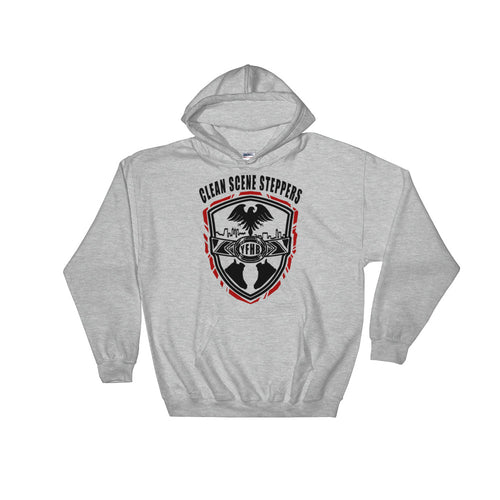 Grey TWARD x Frezh Division Collab: Clean Scene Steppers Hoodie