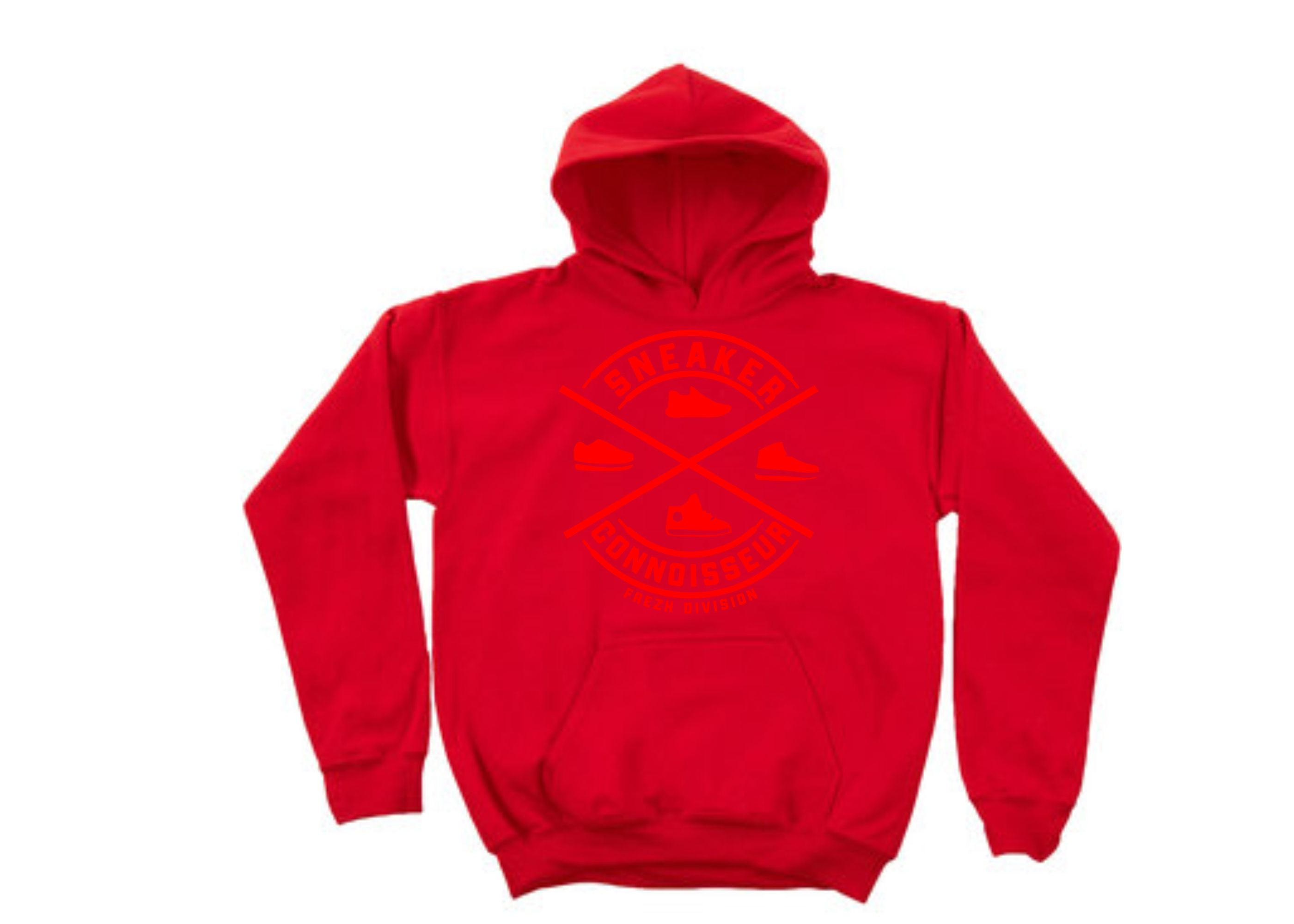 *exclusive* SNEAKER CONNOISSEUR V2 RED on RED HOODIE
