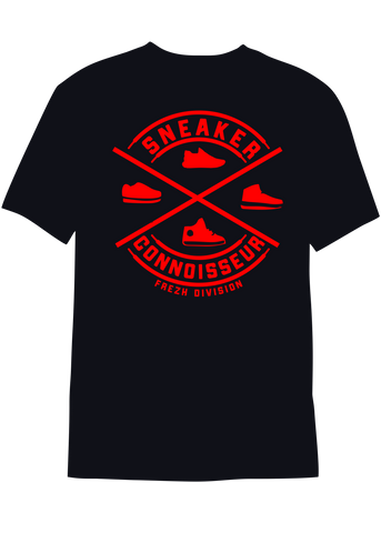 Sneaker Connoisseur V2 Short Sleeve Black/Red