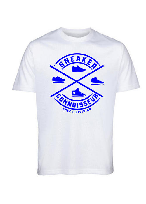 Sneaker Connoisseur V2 Short Sleeve White/Royal blue