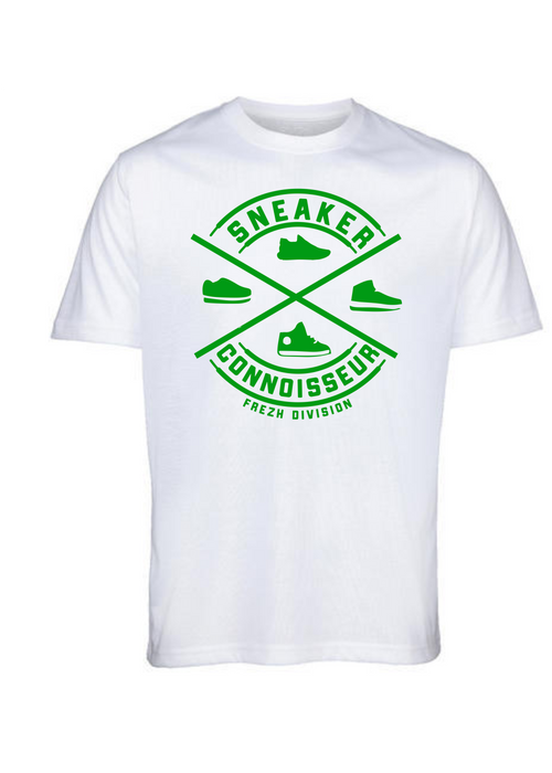 Sneaker Connoisseur V2 Short Sleeve White/ Green