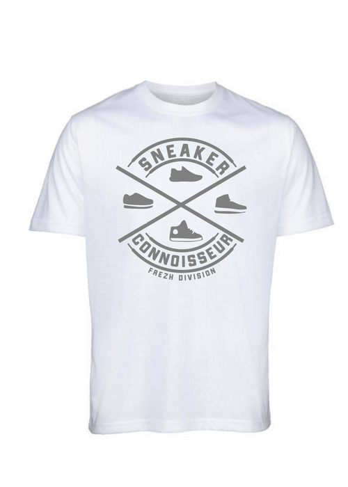 Sneaker Connoisseur v2 Short Sleeve White/ Silver