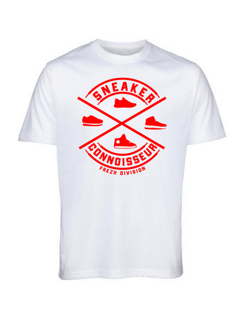 Sneaker Connoisseur v2 Short Sleeve White/ Orange