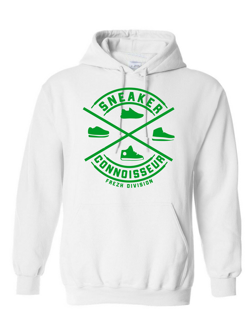 SNEAKER CONNOISSEUR WHITE/ GREEN HOODIE