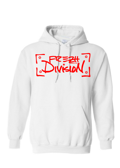 Frezh Division White/Red Hoodie