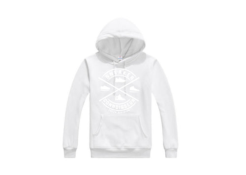 *exclusive* SNEAKER CONNOISSEUR V2 WHITE on WHITE HOODIE