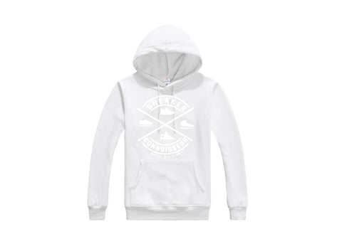 LADIES CROP SNEAKER CONNOISSEUR HOODIE V2 BLACK/WHITE