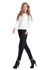 Black Pleat Comfortable Cotton Harem Pant