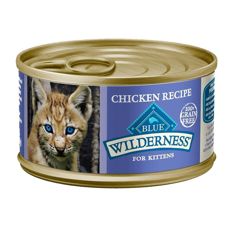Blue Buffalo Wilderness Kitten Chicken Recipe Grain-Free Canned Cat Food