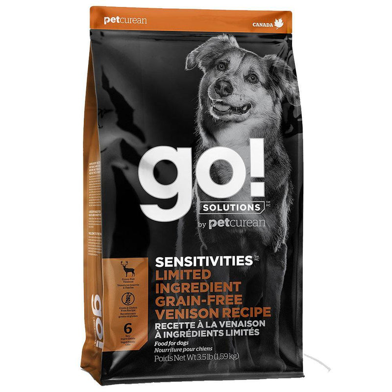 Go! SENSITIVITIES Limited Ingredient Venison Grain-Free Dry Dog Food