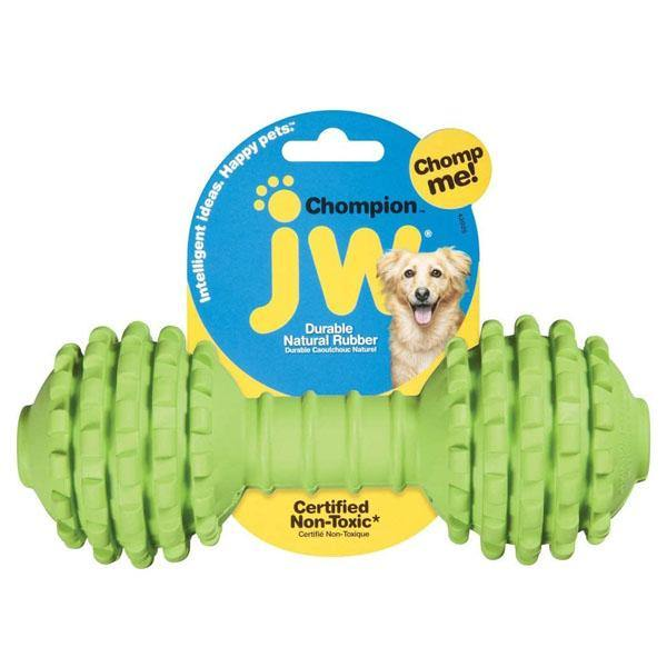 JW Pet Chompion Rubber Dog Toy, Small/Medium