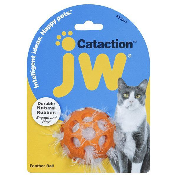 JW Pet Cataction Feather Ball Cat Toy