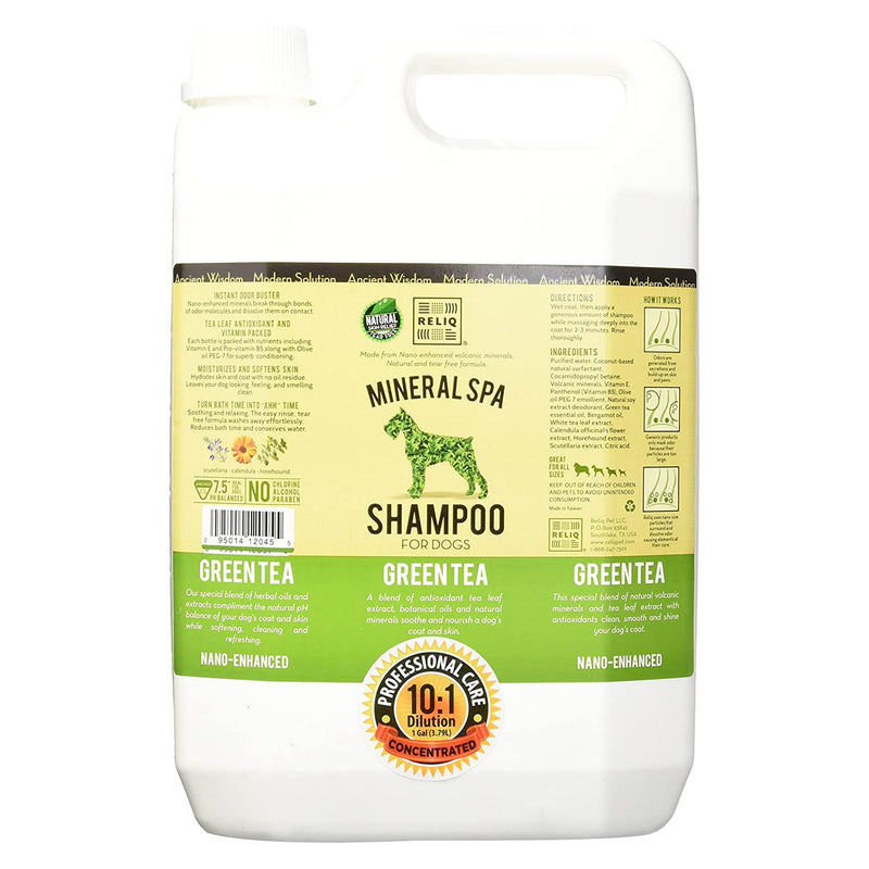 RELIQ Mineral Spa Shampoo Green Tea for Dogs (1-gal bottle)