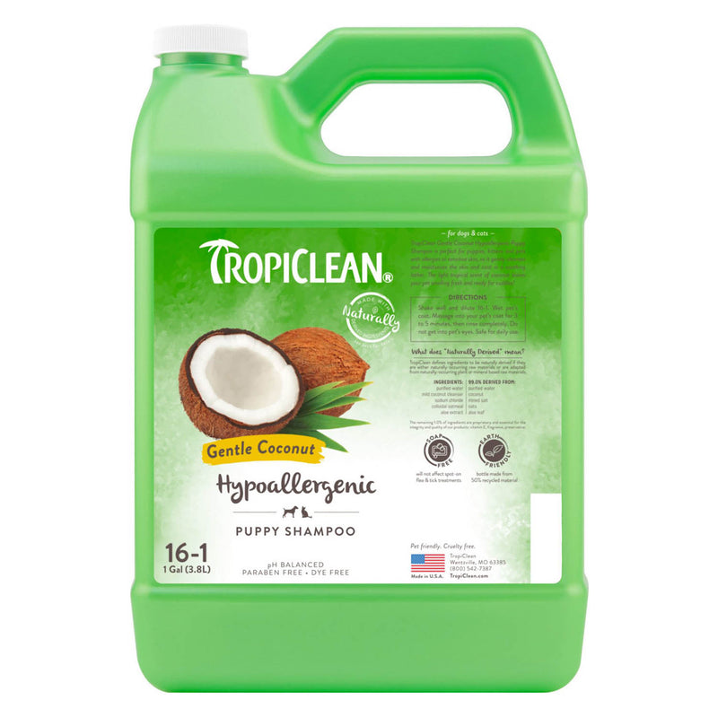 TropiClean Hypo-Allergenic Gentle Coconut Puppy & Kitty Shampoo