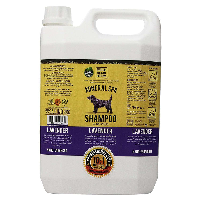 RELIQ Mineral Spa Shampoo Lavender for Dogs (1-gal bottle)