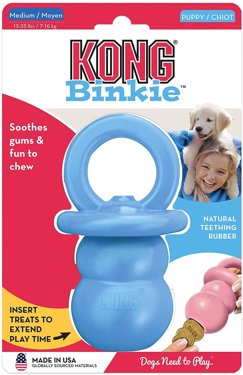 KONG Puppy Binkie Dog Toy, Color Varies, Medium - Petanada