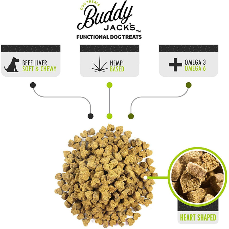 Buddy Jack's Hemp Functional Dog Treats - Happy Aging (12-oz container) - Petanada