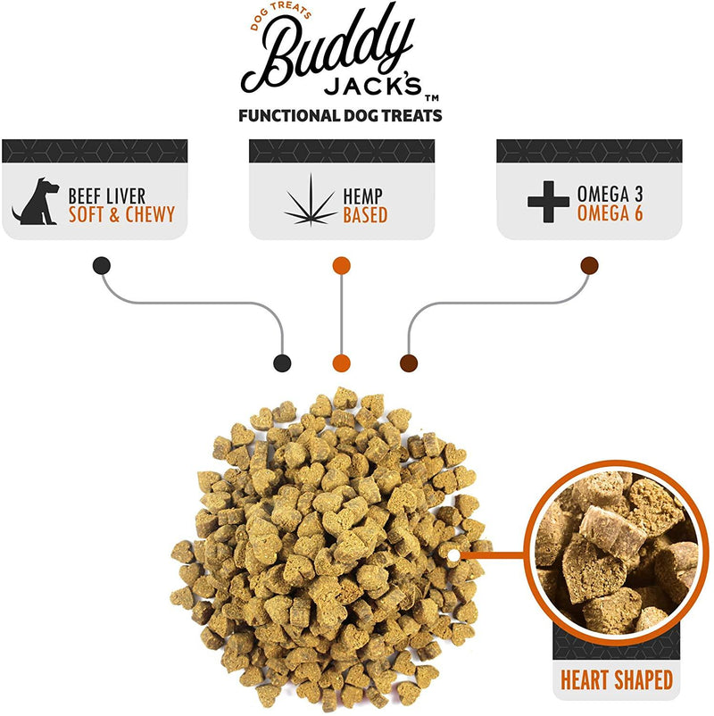Buddy Jack's Hemp Functional Dog Treats - Skin and Coat (12-oz container)