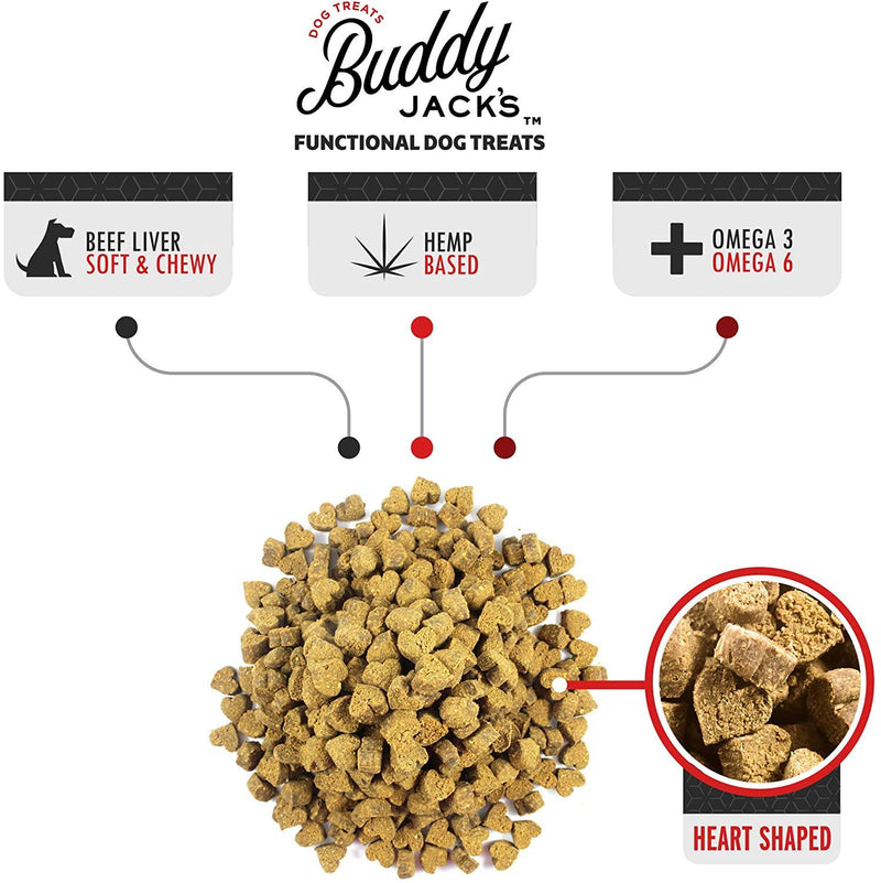 Buddy Jack's Hemp Functional Dog Treats - Heart and Immunity (12-oz container)