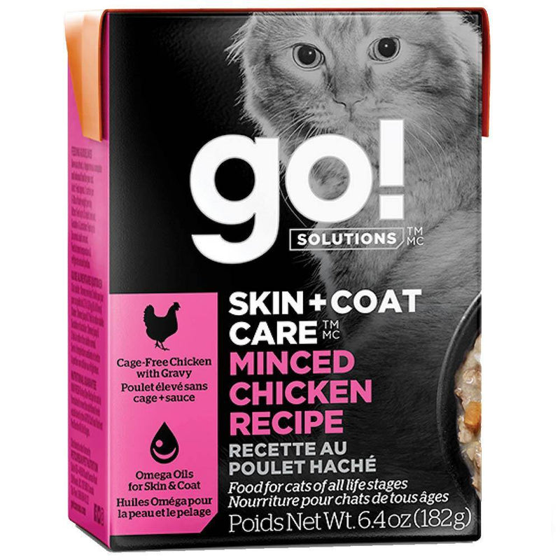 Go! SKIN + COAT CARE Minced Chicken Cat Food (6.4-oz, case of 24)