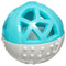Totally Pooched Catch n' Squeak Rubber Ball Dog Toys (3.5-inch, Grey & Teal)