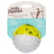 Totally Pooched Catch n' Squeak Rubber Ball Dog Toys (3.5-inch, Grey & Green)