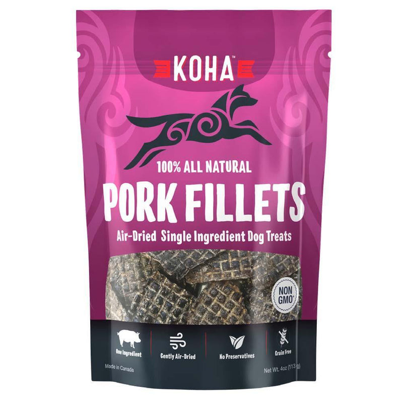 KOHA Pork Fillets Air-Dried Single Ingredient Dog Treats (4.0-oz bag)