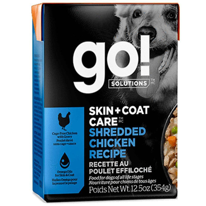 Go! Solutions Skin + Coat Care Shredded Chicken Recipe Dog Food (12.5-oz, case of 12)