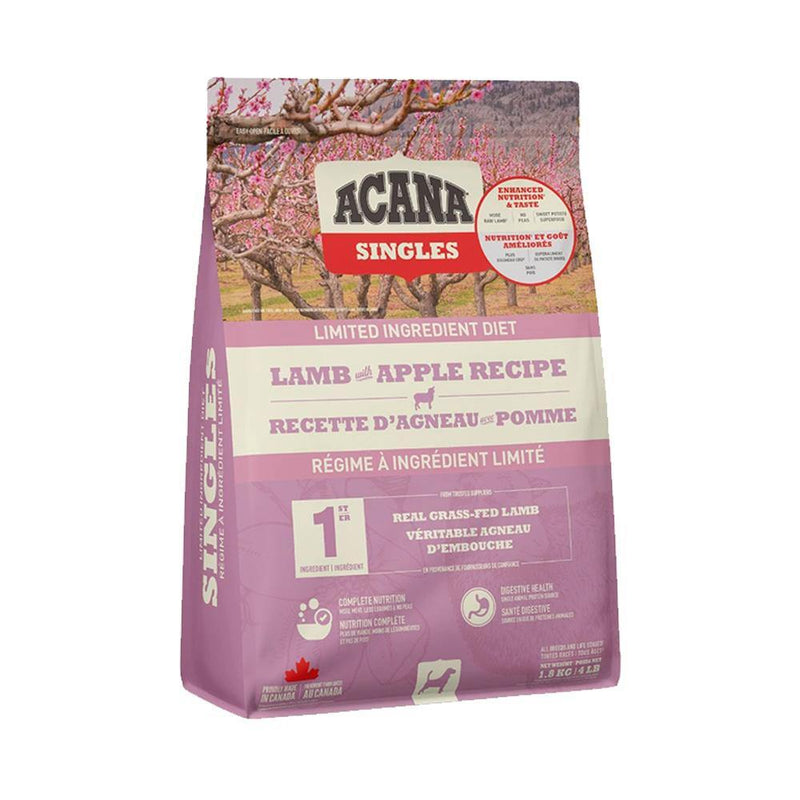 ACANA Singles Limited Ingredient Diet Lamb with Apple Recipe Grain-Free Dry Dog Food (4 lb)