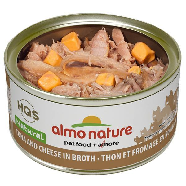Almo Nature HQS Natural Tuna & Cheese in Broth Grain-Free Canned Cat Food (2.47-oz, case of 24)