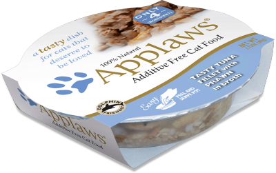 Applaws Tuna Fillet with Prawn Cat Food Pot 60g