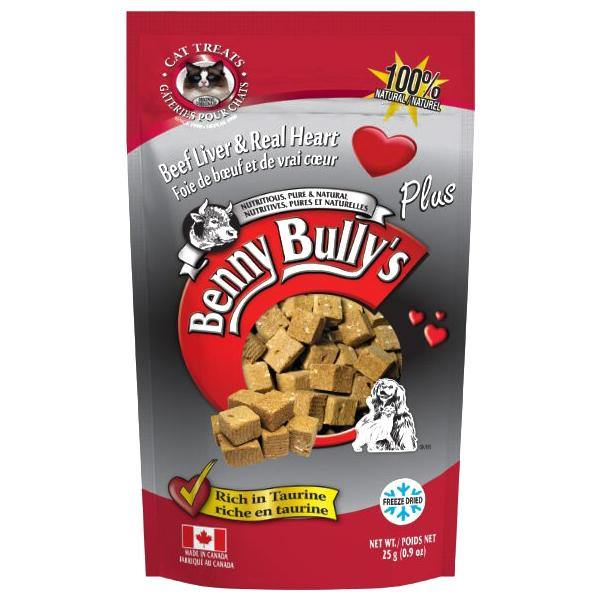 Benny Bully's Beef Liver Plus Heart Cat Treats (25-g bag)