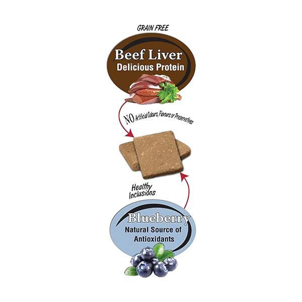 Benny Bully's Liver Plus Blueberry Dog Treats (58-g bag)
