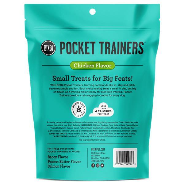 BIXBI Pocket Trainers Chicken Flavor Grain-Free Dog Treats (6-oz bag)