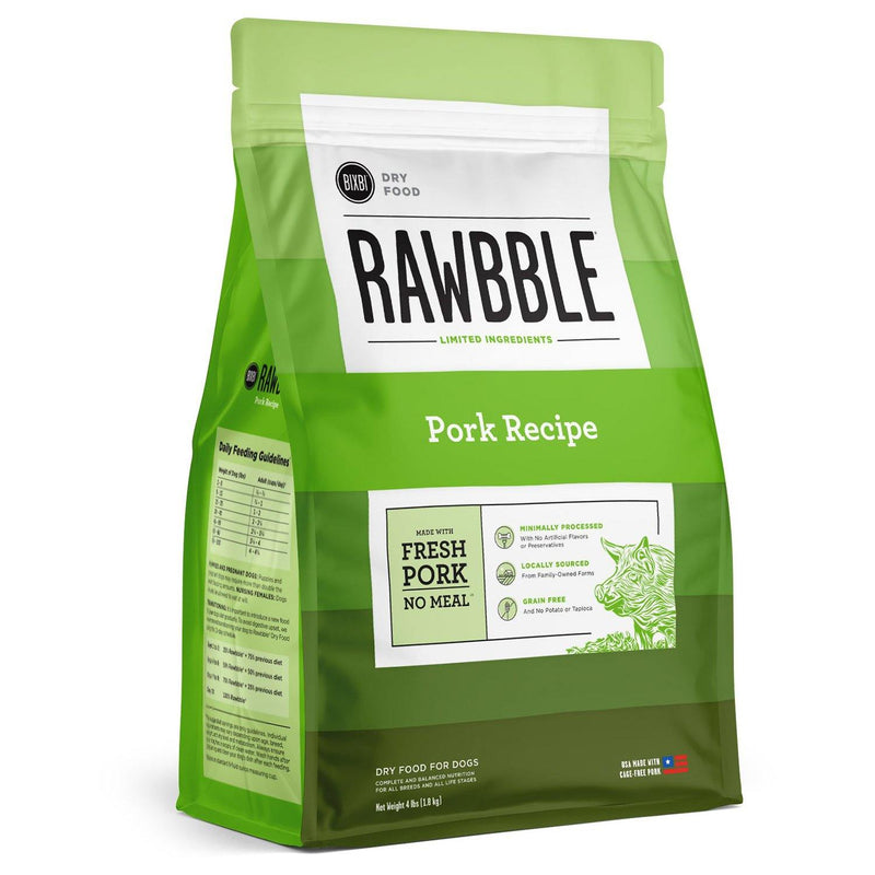 BIXBI RAWBBLE Pork Recipe Limited Ingredient Grain-Free Dry Dog Food - Petanada