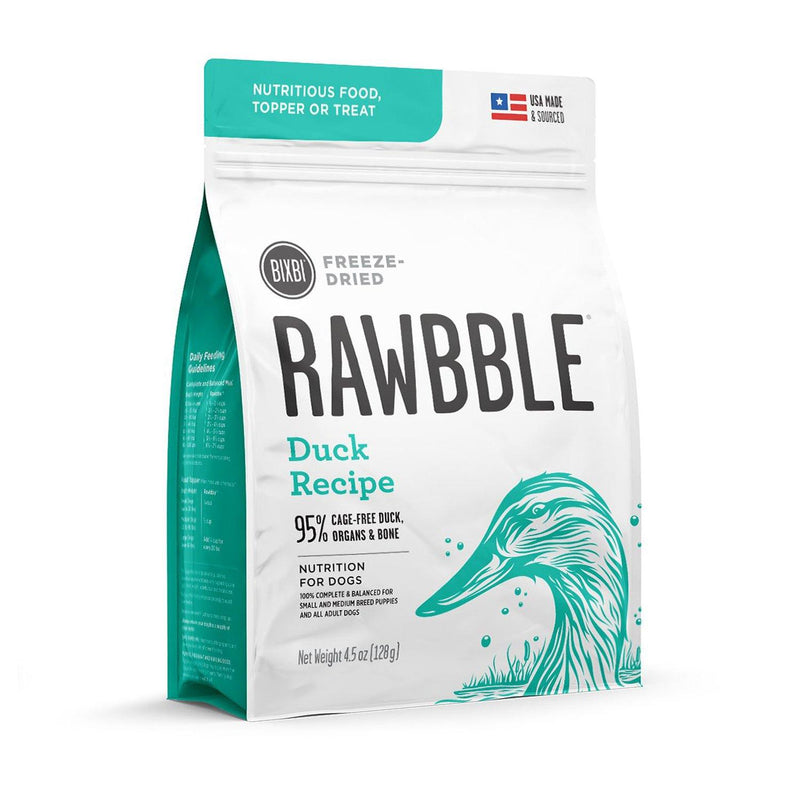 Bixbi-Rawbble-Freeze-Dried-Dog-Food-Side_Duck