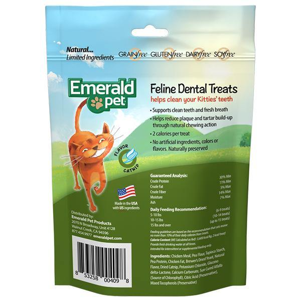merald Pet Feline Dental Treats Catnip Flavored Cat Treat (3-oz bag)