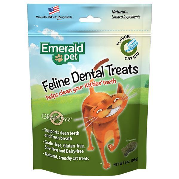 Emerald Cat Dental Treat 3oz - Catnip front